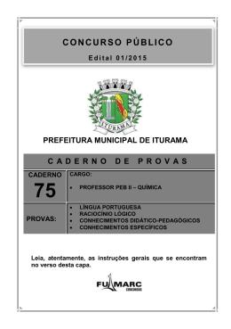 Caderno 75: Professor PEB II - Química