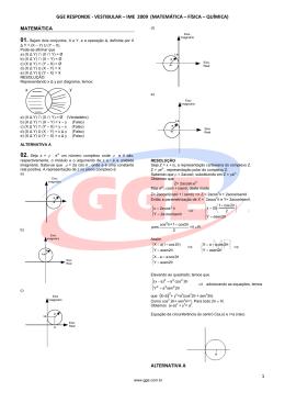 gge responde - vestibular – ime 2009 (matemática – física – química)