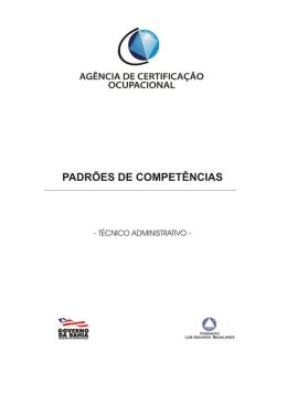 Técnico Administrativo - Agência de Certificação Ocupacional