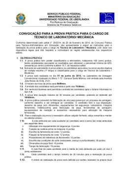 Instruções para Prova Prática - Diretoria de Processos Seletivos