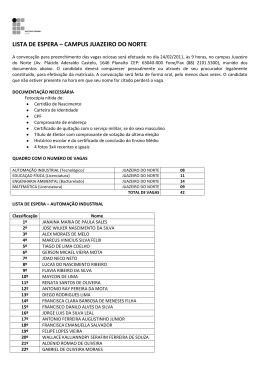 LISTA DE ESPERA – CAMPUS JUAZEIRO DO NORTE
