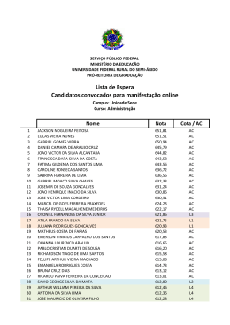 Lista de Espera Candidatos convocados para