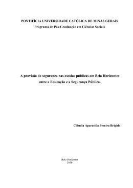 Dissertação de Cláudia Aparecida Pereira Brígido