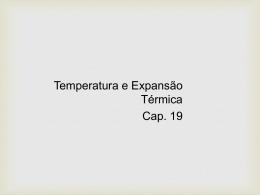 Temperatura e Dilatação