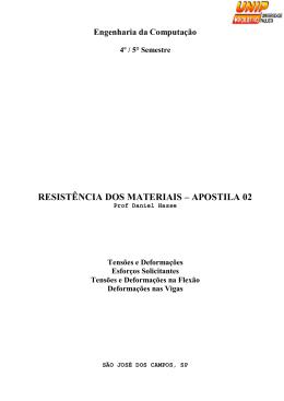 RESISTÊNCIA DOS MATERIAIS – APOSTILA 02