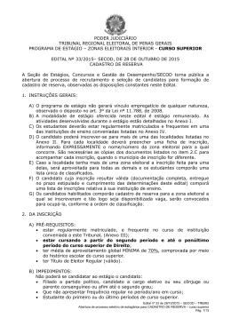Edital nº 33/2015 - Portal da Justiça Eleitoral
