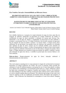 2º FÓRUM INTERNACIONAL ECOINOVAR Santa Maria/RS – 23 e