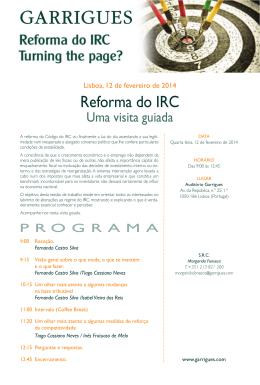 A Reforma do IRC