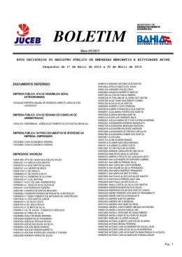 BOLETIM
