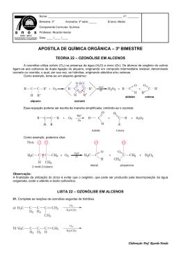 apostila de química orgânica – 3º bimestre