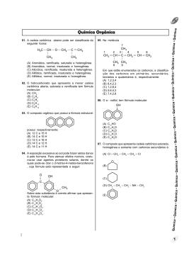 Química Orgânica - Colégio Machado de Assis
