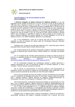 Consulta Pública nº 79, de 24 de setembro de 2015