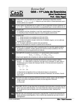 QG5 - 11a Lista de Exercícios + Gabarito