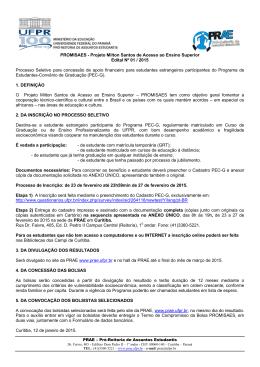edital promisaes 2015 - Pró-Reitoria de Assuntos Estudantis