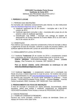Faculdades Integradas dos Campos Gerais – CESCAGE