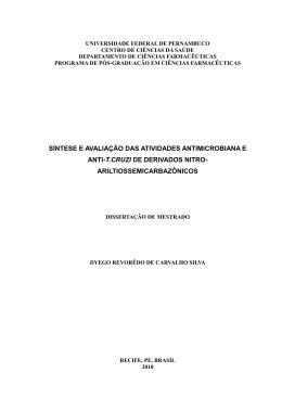 síntese e avaliação das atividades antimicrobiana e anti