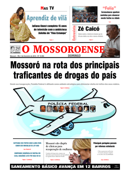Capa O MOSSOROENSE - DOMINGO - PC - 5
