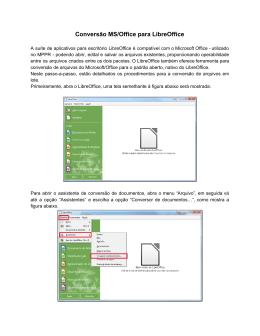 Migração de documentos para o LibreOffice