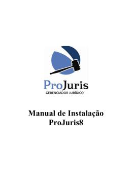 Manual de Instalação ProJuris8