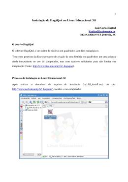 Instalação do HagáQuê no Linux Educacional 3.0