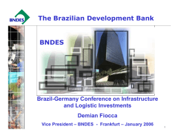 The Brazilian Development Bank BNDES