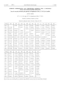 Taxa de conversão monetária pela aplicação do