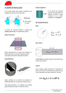 V=A .h ⇒ V = .R .h π - marcelocoser.com.br