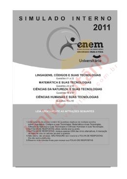 ENEM - Simulado Interno 2011/I - Linguagens