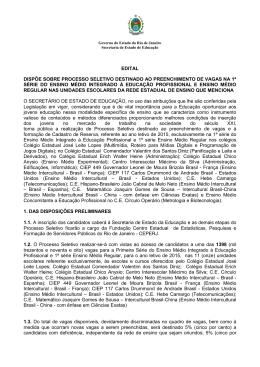 Edital - Governo do Estado do Rio de Janeiro