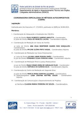 coema - Tribunal de Justiça do Estado do Rio de Janeiro