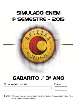 SIMULADO ENEM 1º SEMESTRE - 2015