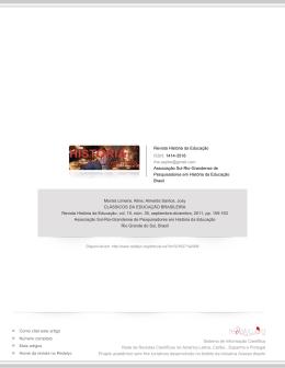 Redalyc.CLÁSSICOS DA EDUCAÇÃO BRASILEIRA