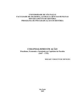 fiscalismo, economia e sociedade na capitania da Paraíba