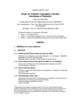Relatório de Atividade 2000-2002