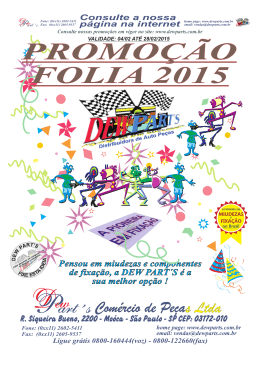 PROMOÇÃO FOLIA 2015