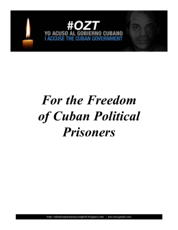 For the Freedom of Cuban Political Prisoners