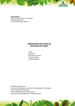 DIVERSIDADE E INCLUSÃO NA EDUCAÇÃO DO CAMPO