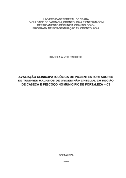 avaliação clinicopatológica de pacientes portadores de tumores