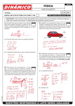 P1 - Física - Carlos Alberto