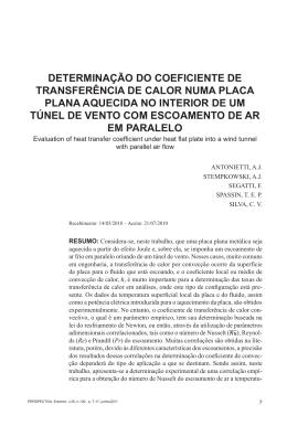 DETERMINAÇÃO DO COEFICIENTE DE TRANSFERÊNCIA