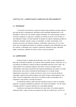 CAPITULO 06 - LUBRIFICAÇÃO E MANCAIS DE DESLIZAMENTO