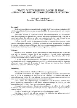 PROJETO E CONTROLE DE UMA CADEIRA DE RODAS - PUC-Rio
