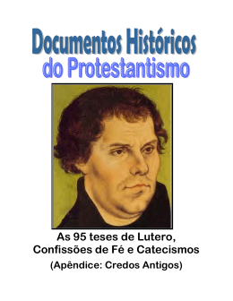 Documentos Históricos do Protestantismo