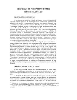 CONFISSÃO DE FÉ DE WESTMINSTER