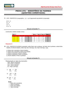 Prova ATA 2012(Comentada)