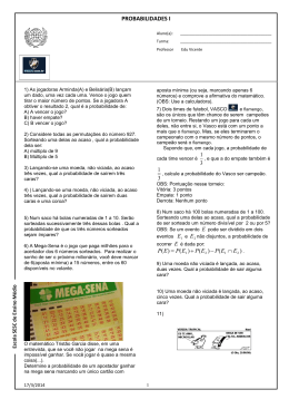 PROBABILIDADES I - Matemática para Todos
