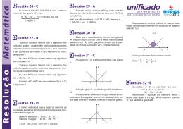 Matemática Resolução