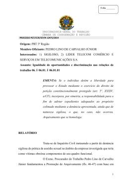 Processo PGT/CCR/nº 12475/2014