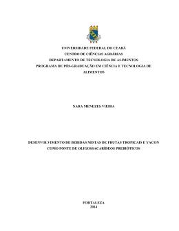 Nara Menezes Vieira - Tecnologia de Alimentos