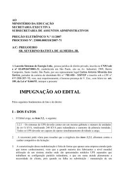 IMPUGNAÇÃO AO EDITAL - Ministério da Educação